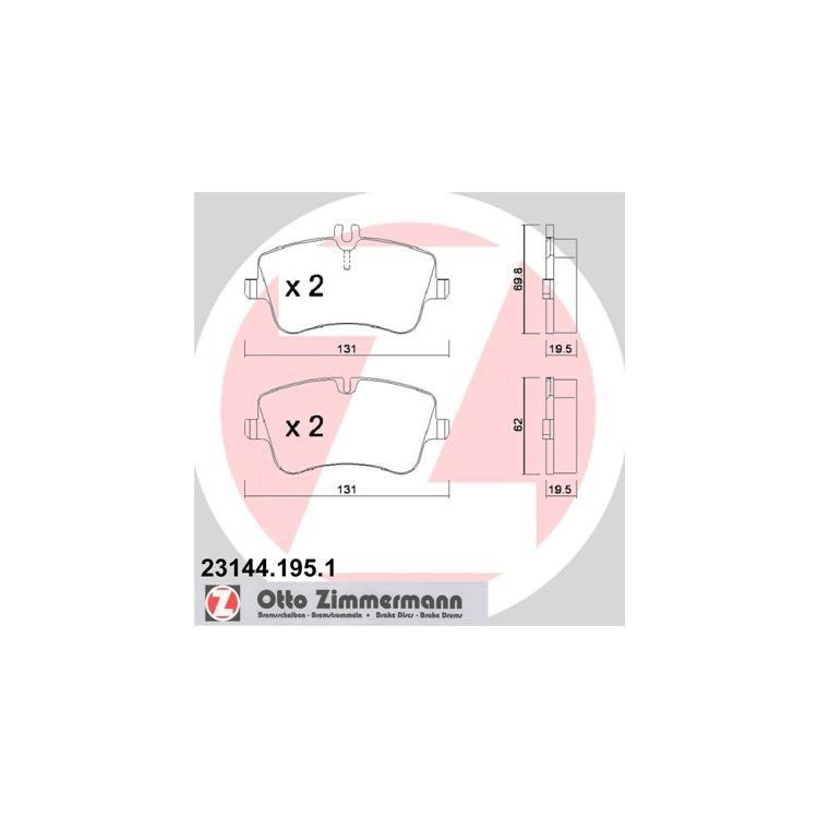 Zimmermann Sport-Bremsscheiben + Bremsbeläge VA+HA Mercedes C-Klasse CLK SLK E203 S203 CL203 C209