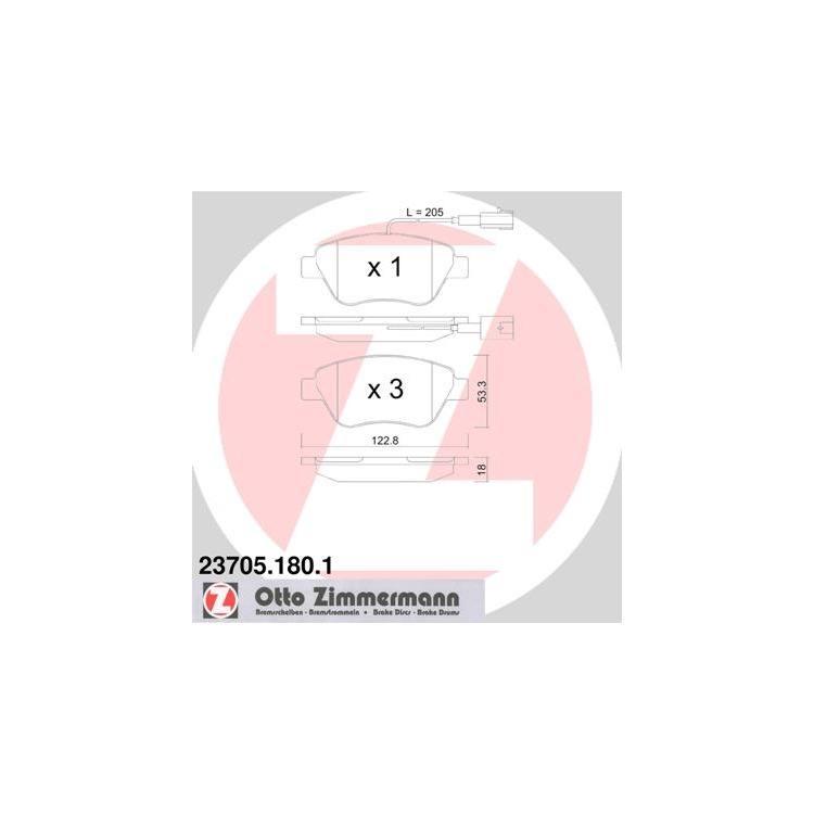 Zimmermann Sportbremsscheiben + Bremsbeläge vorne Alfa Romeo Citroen Fiat Lancia Peugeot