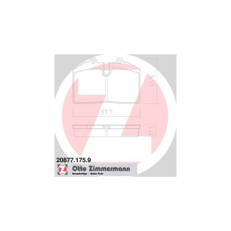 Zimmermann Bremsbeläge hinten Porsche 911 928 944 968 + Cabriolet Targa Carrera