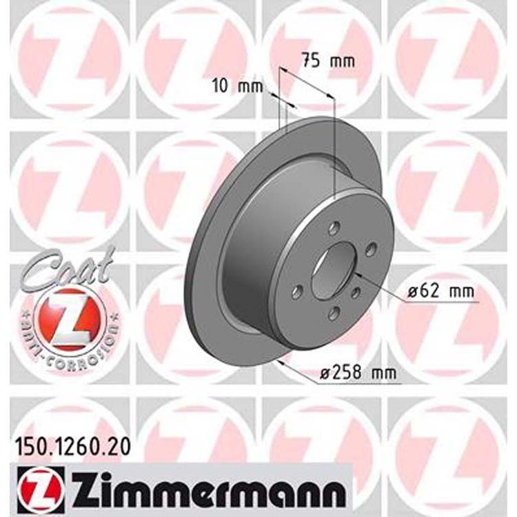 2 Zimmermann Bremsscheiben 258mm hinten BMW E30 325 i X