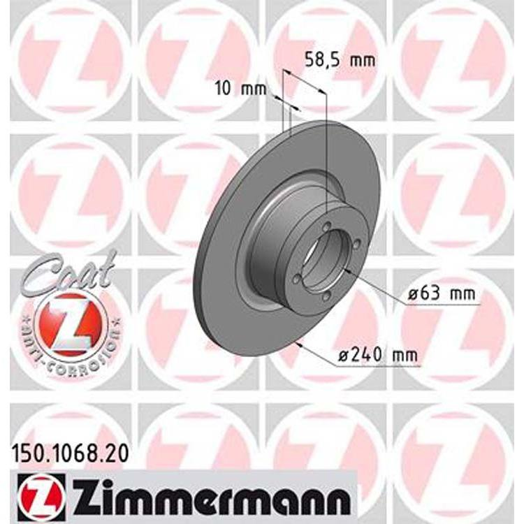 Zimmermann Bremsscheiben + Textar Bremsbeläge vorne BMW 02 E10 E6