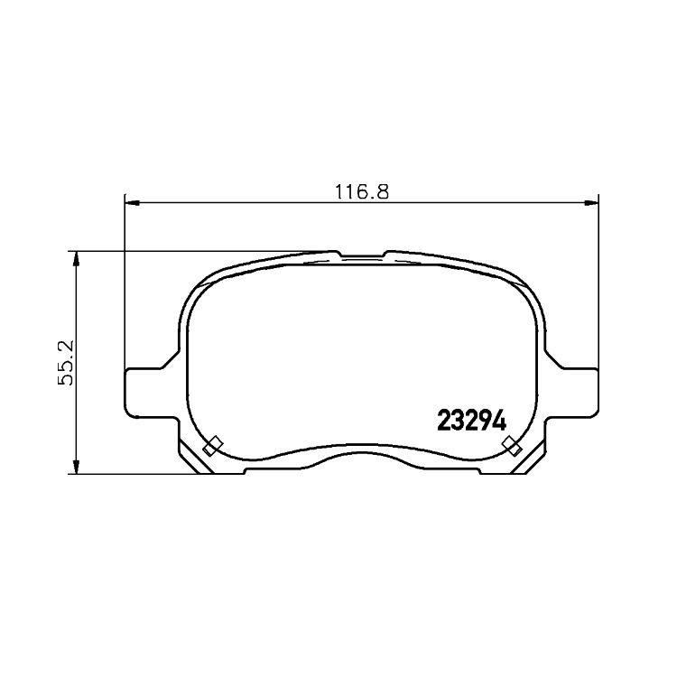 Textar Bremsbeläge vorne Toyota Corolla E11 1,4 - 2,0 ohne Sensor Akebono