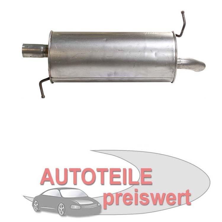 Mitteltopf Auspuff Schalldämpfer Auspuffanlage Abgasanlage Ford Galaxy VW Sharan