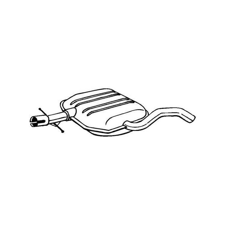 Mittelschalldämpfer VW Golf 3 Vento 1,9 SDI TDI