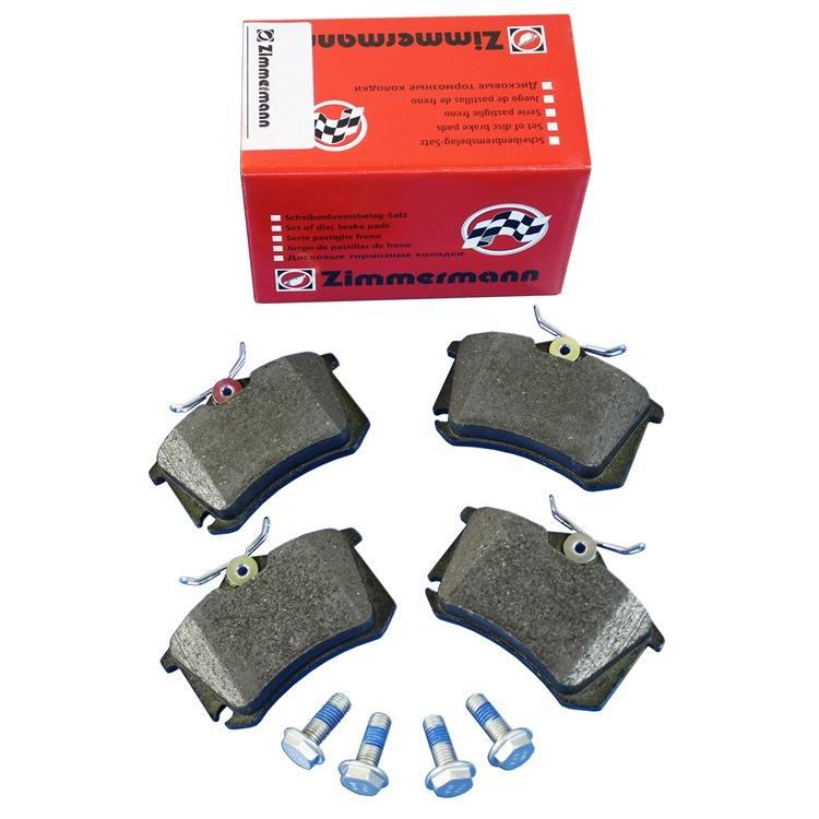 Zimmermann Bremsscheiben + Bremsbeläge hinten Audi A4 B6 + Avant