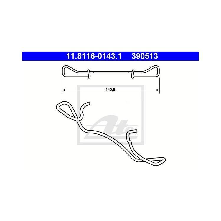 ATE Feder für Bremssattel vorne Audi Ford Peugeot Saab Seat Skoda VW