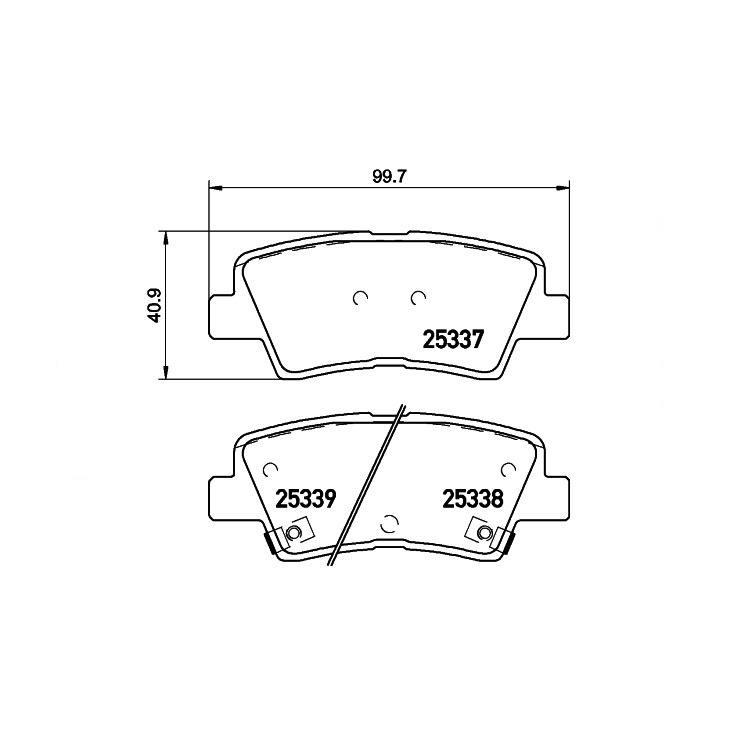 textar bremsbel ge hinten hyundai accent i20 i30 kia. Black Bedroom Furniture Sets. Home Design Ideas