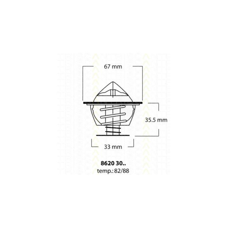 Triscan Thermostat BMW 2000-3.2 2500-3.3 5 6 7