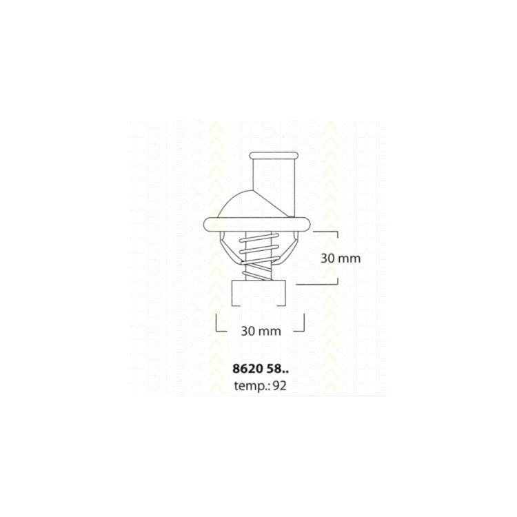 Triscan Thermostat Opel