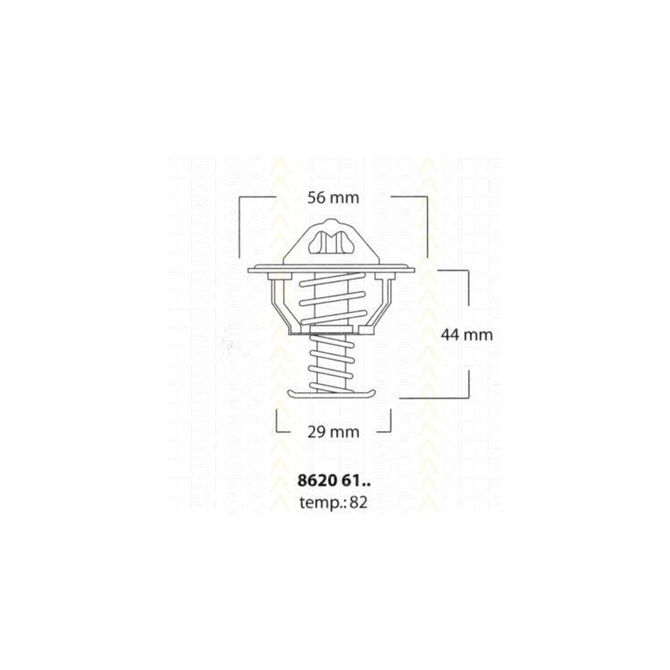 Triscan Thermostat Citroen Mitsubishi Nissan Opel Peugeot Renault