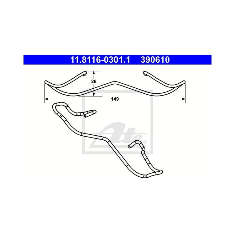 ATE Feder Bremssattel vorne 11.8116-0301.1 im Autoteile Preiswert Shop kaufen und sparen!
