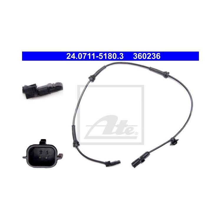 ATE Sensor Raddrehzahl vorne 24.0711-5180.3 im Autoteile Preiswert Shop kaufen und sparen!