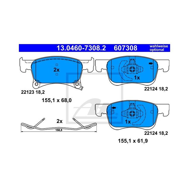 ATE Bremsbeläge vorne 13.0460-7308.2 online günstig Autoteile kaufen