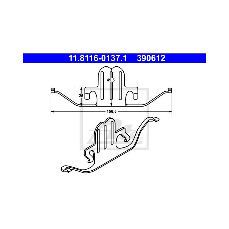 ATE Feder Bremssattel vorne 11.8116-0137.1 im Autoteile Preiswert Shop kaufen und sparen!