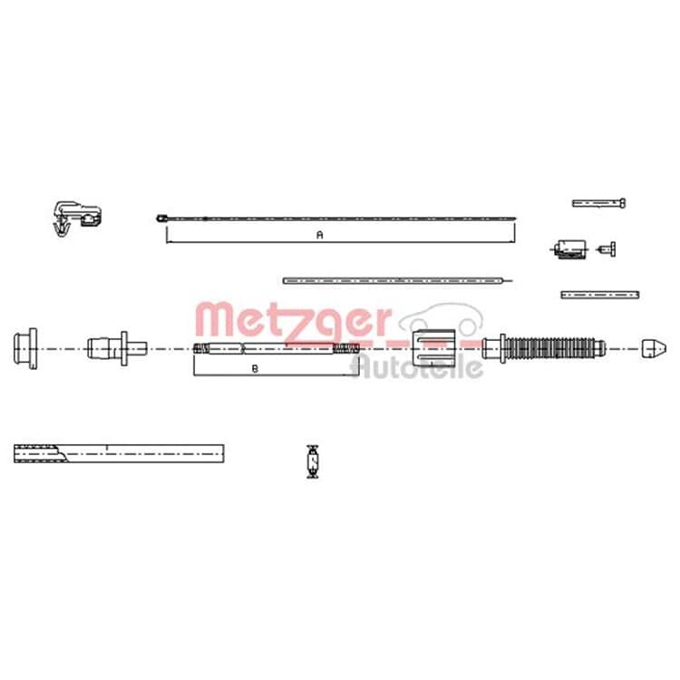 Metzger Gaszug 10.0382 online günstig Autoteile kaufen