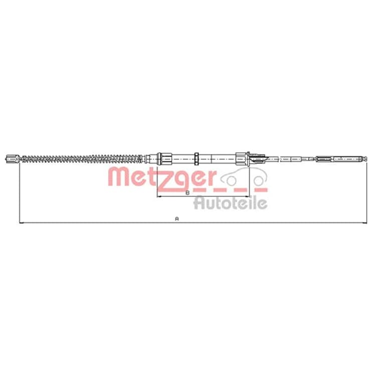 Metzger Bremsseil für Trommelbremse hinten VW Golf 3 Vento