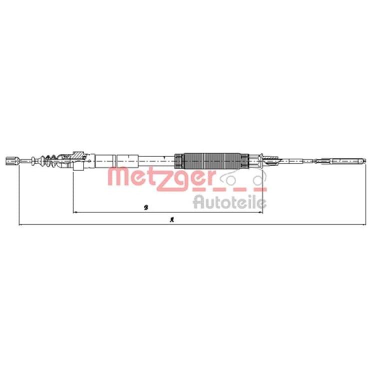 Metzger Bremsseil hinten 10.7481 im Autoteile Preiswert Shop kaufen und sparen!
