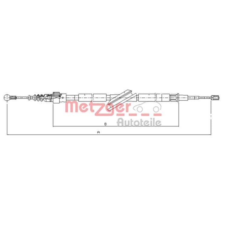 Metzger Bremsseil hinten 10.7506 bei Autoteile Preiswert