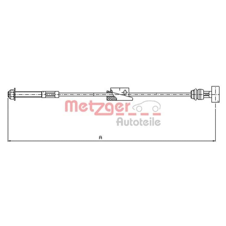 Metzger Bremsseil vorne 11.5452 bei Autoteile Preiswert
