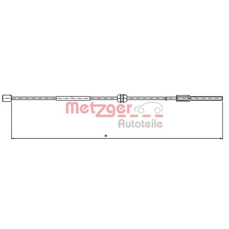 Metzger Bremsseil  für Scheibenbremse vorne Opel Corsa C Tigra