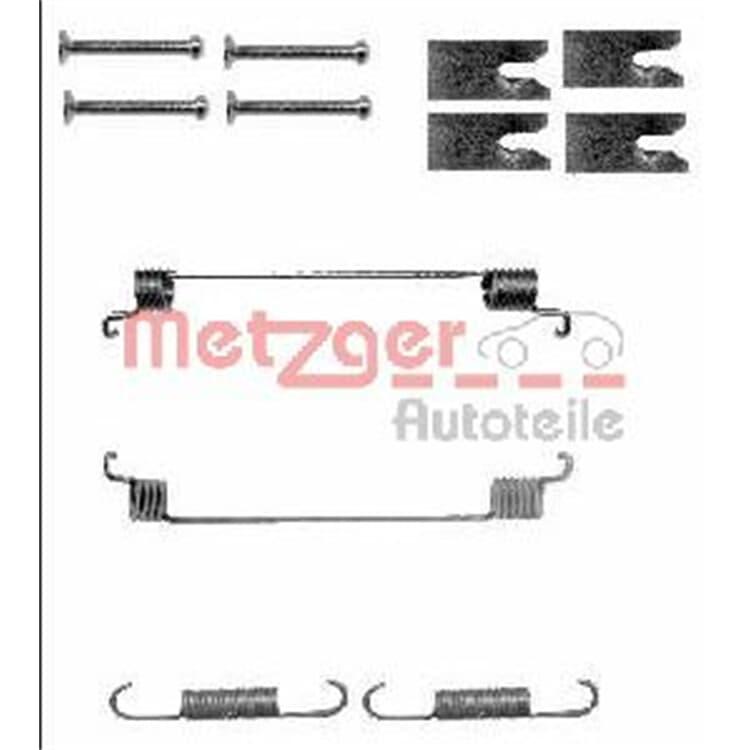 Metzger Montagesatz hinten Citroen Fiat Lancia Opel Peuegot
