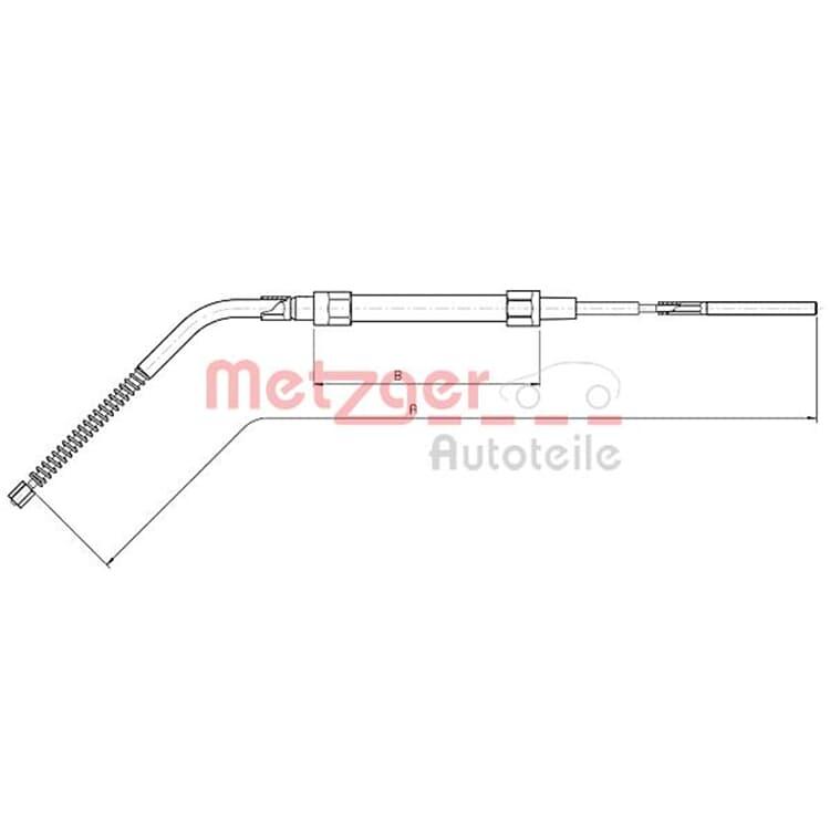 Metzger Bremsseil hinten BMW E36 Compact
