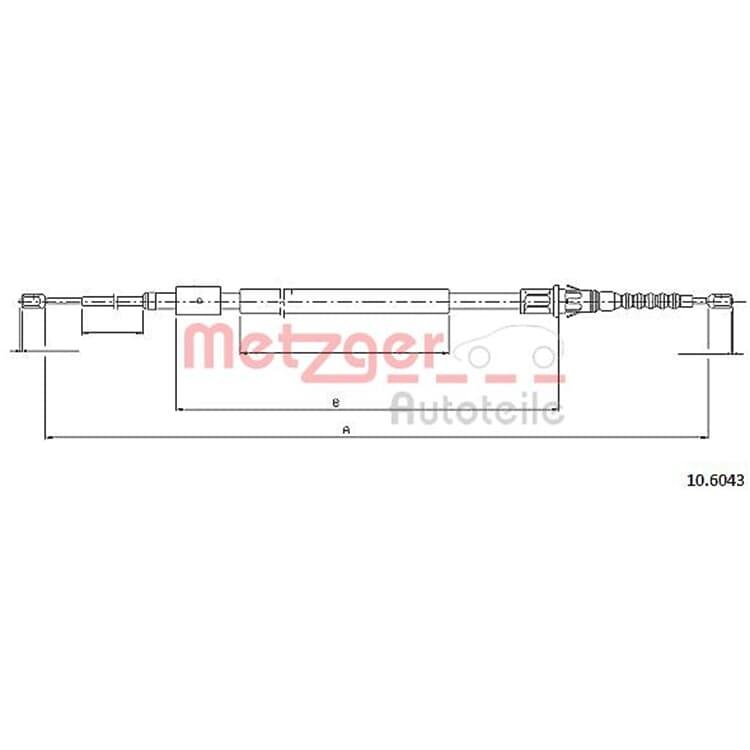 Metzger Bremsseil hinten Citroen C4 Peugeot 307