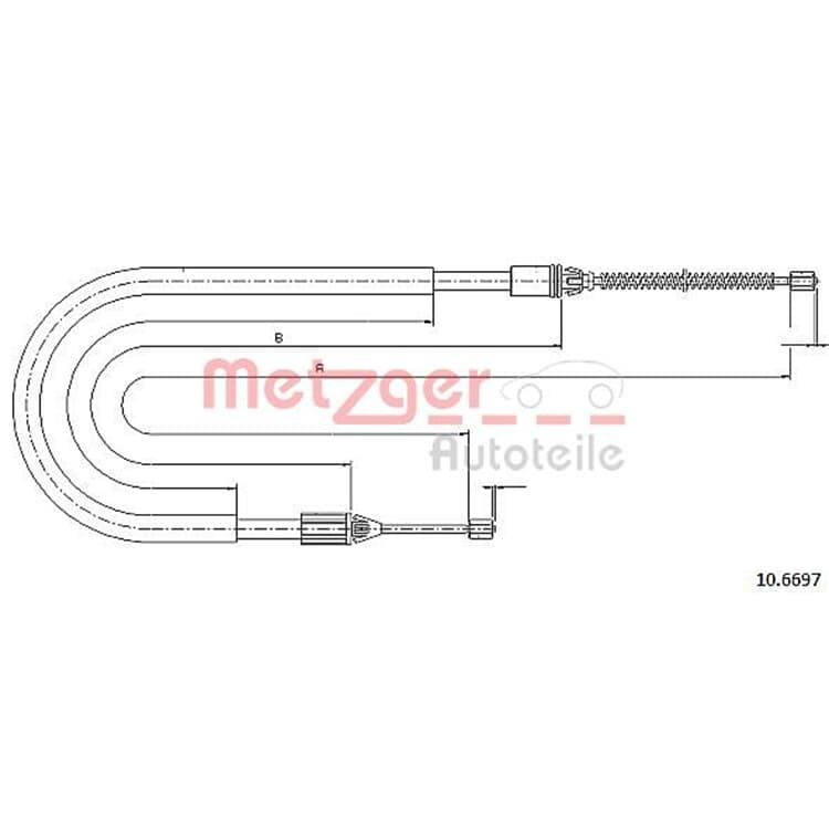 Metzger Bremsseil hinten Renault Megane Scenic