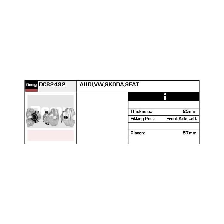 Bremssattel vorne links Audi A4 A6 Seat Exeo Skoda Superb VW Passat