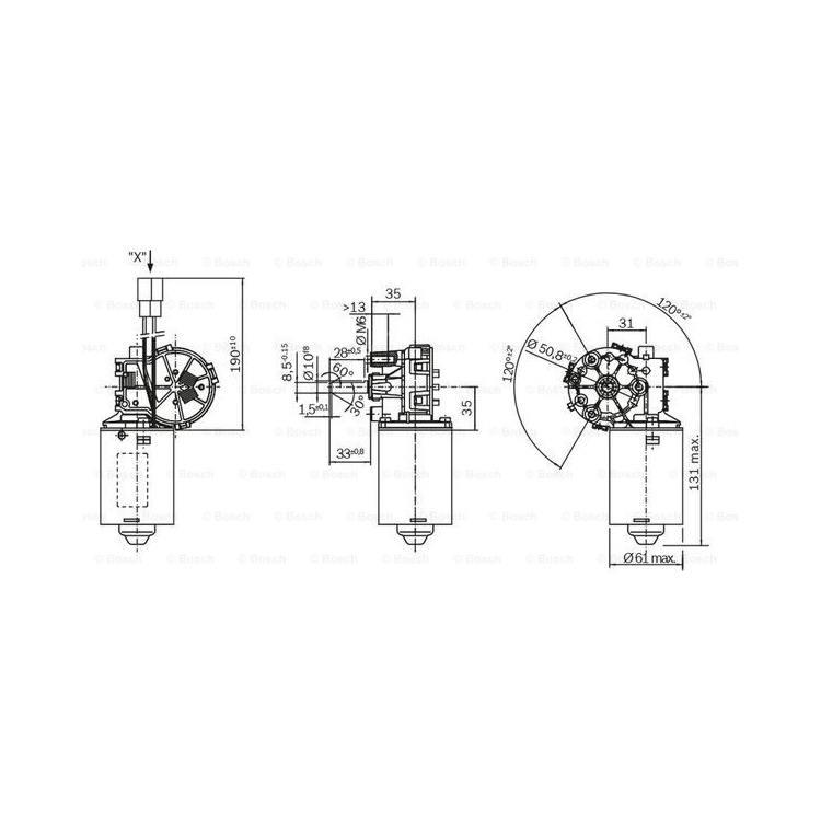 Bosch Wischermotor F006B20179