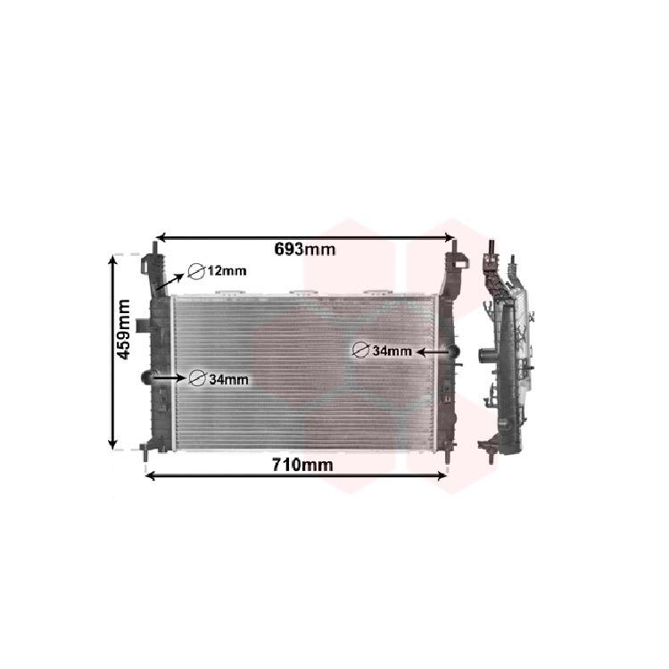 Van Wezel Wasserkühler Opel Meriva 1,4 1,6 1,7 1,8 + 16V CDTI