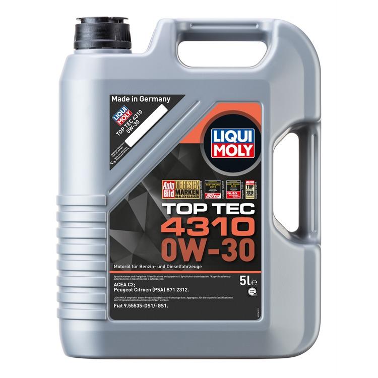 Liqui Moly Toptec 4310 0W-30 5 Liter 3736 im Autoteile Preiswert Shop kaufen und sparen!