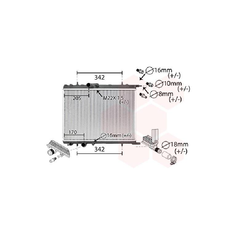 Wasserkühler Citroen Berlingo C4 I +Coupe Xsara 206 307 Partner bei Autoteile Preiswert