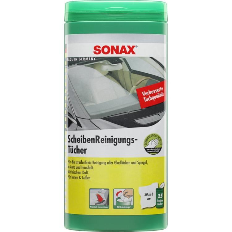 SONAX ScheibenReinigungsTücher Box 25 Stück