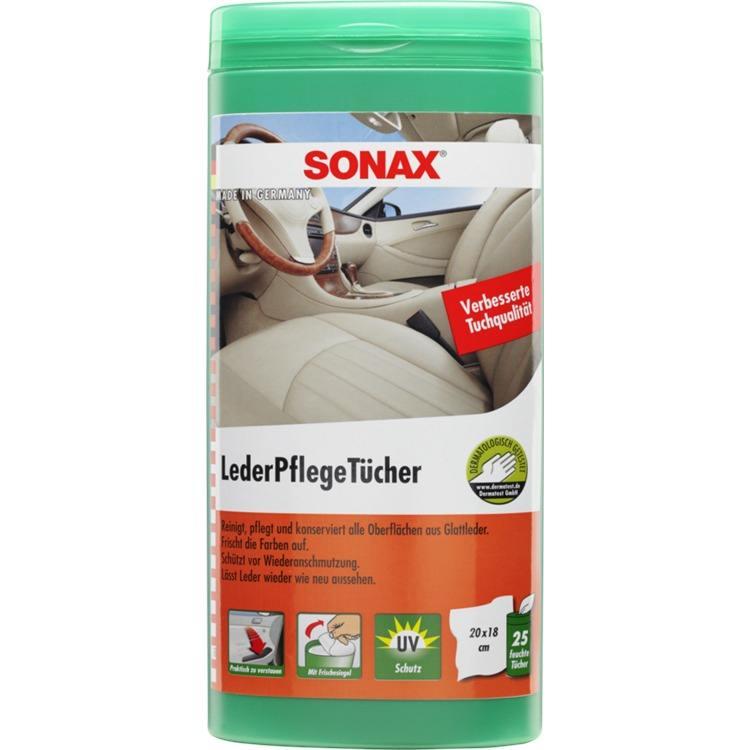 SONAX LederPflegeTücher Box 25 Stück