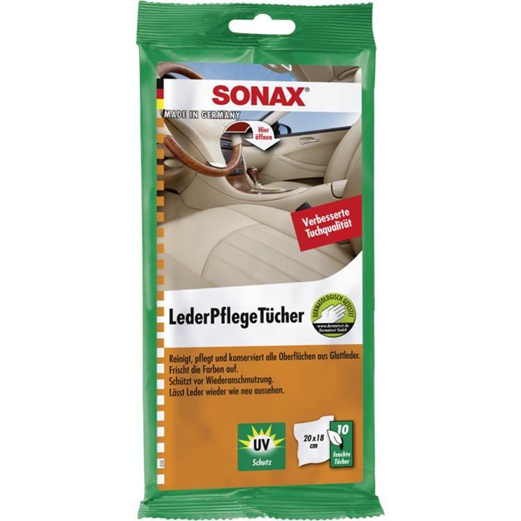SONAX LederPflegeTücher 10 Stück