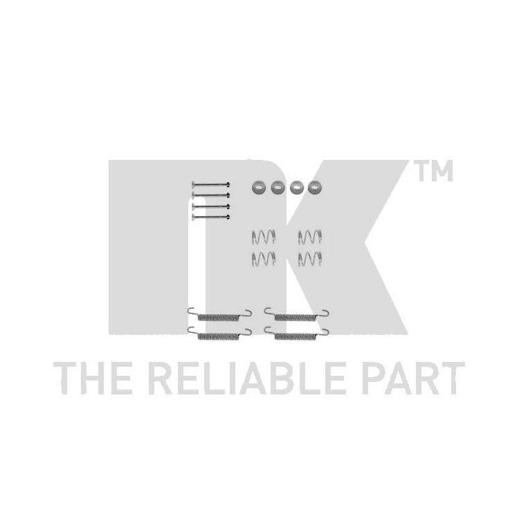 NK Zubehörsatz für Bremsbacken hinten Opel Omega B Vectra A