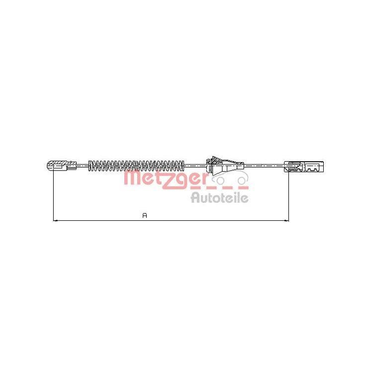 2xmetzger bremsseil f r trommelbremse 220mm hinten opel. Black Bedroom Furniture Sets. Home Design Ideas