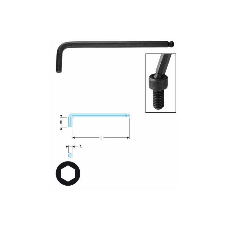 Facom 6-Kant Stiftschlüssel 4mm mit Kugelkopf