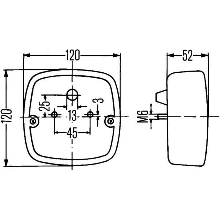 Hella Anhänger Wohnwagen Schluß- Bremsleuchte 2SD002514-161