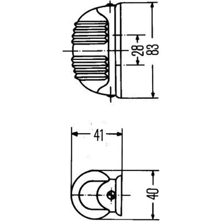 Hella Wohnwagen Anhänger Blinkleuchte 2BA001227-201 bei Autoteile Preiswert