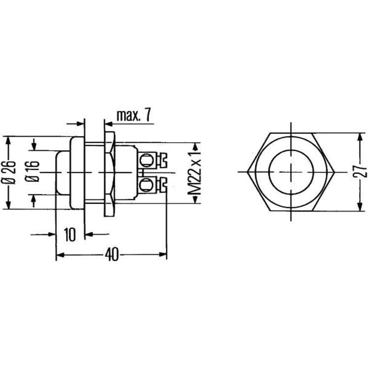 Hella Druckschalter 6JF001571-101