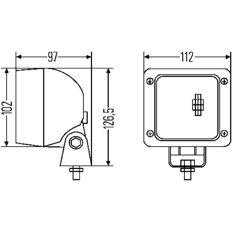 Hella H3-Arbeitsscheinwerfer