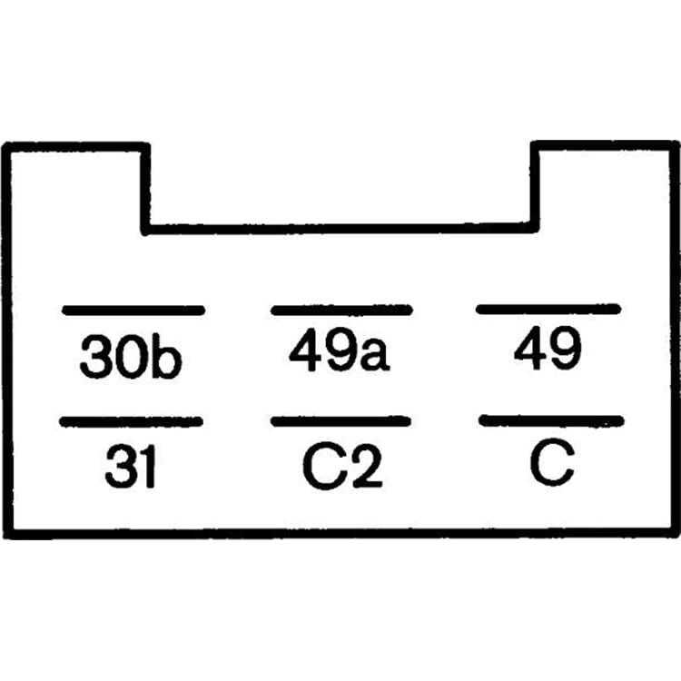 Hella Blinkgeber 24V 6polig