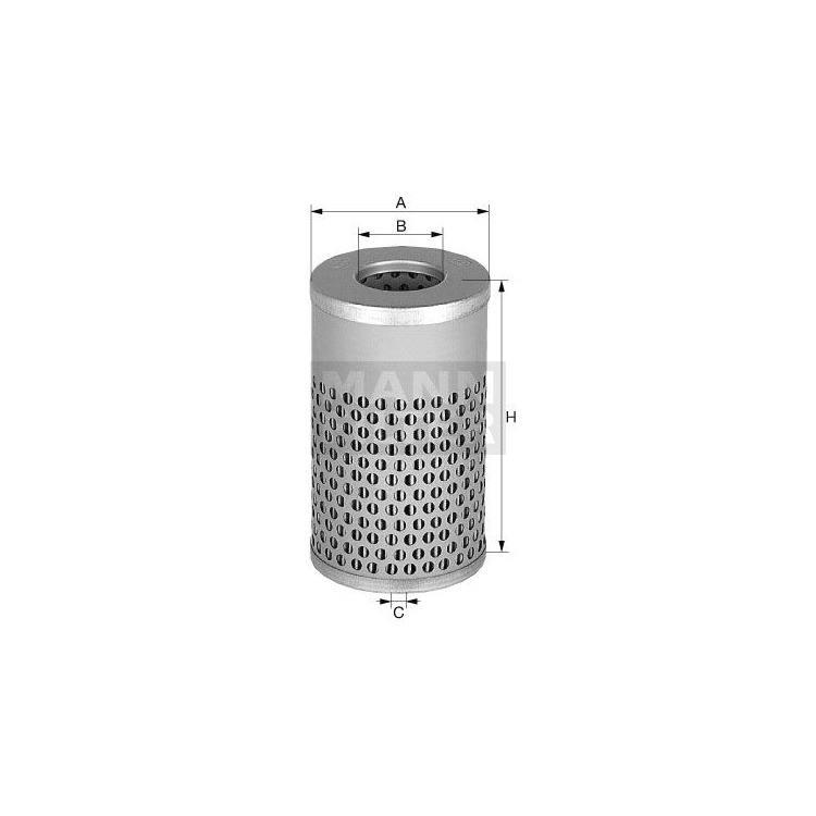 NFZ-MANN Ölfilter Einsatz H617N