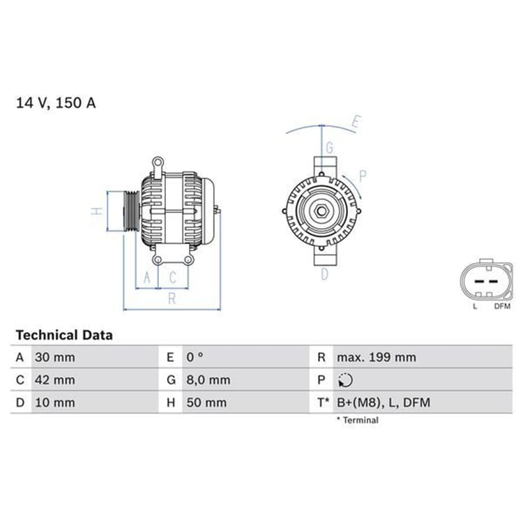 Bosch Lichtmaschine 0986049660 im Autoteile Preiswert Shop kaufen und sparen!