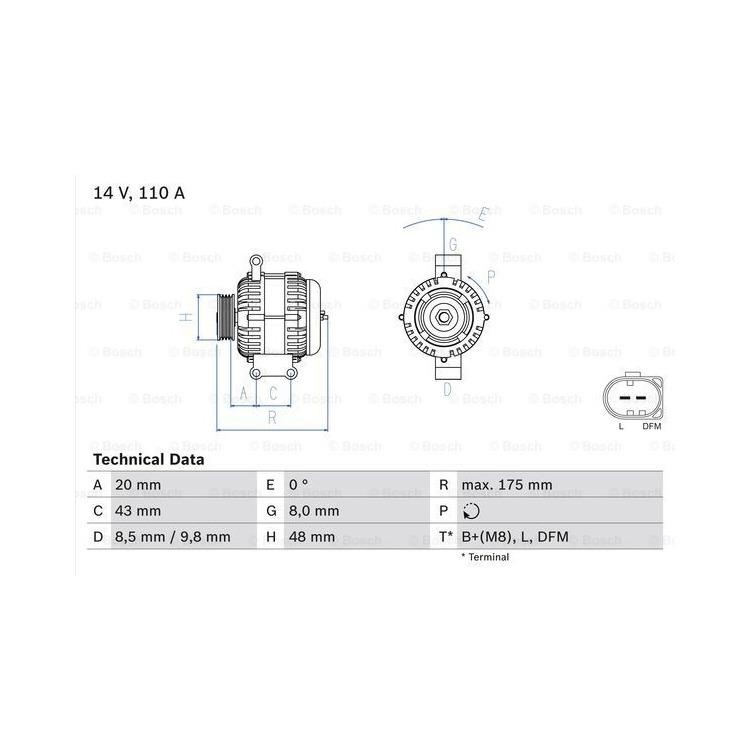Bosch Lichtmaschine 0986048750 online günstig Autoteile kaufen