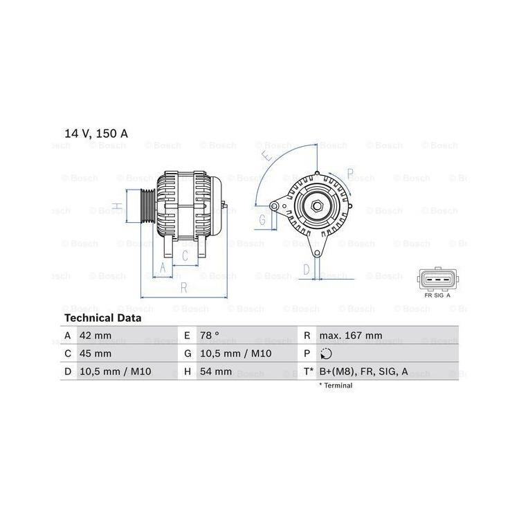 Bosch Lichtmaschine 0986049071 bei Autoteile Preiswert