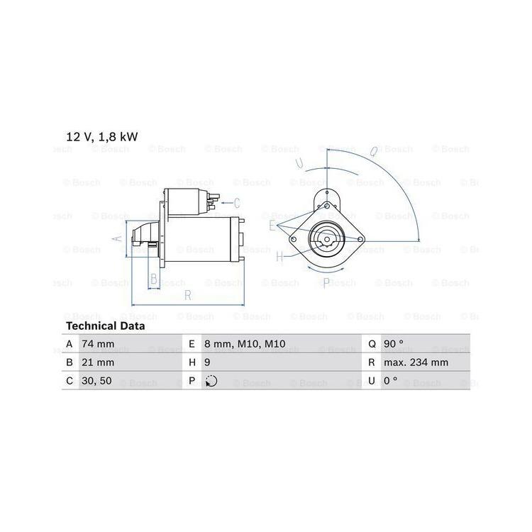 Bosch Anlasser 0986021230 online günstig Autoteile kaufen