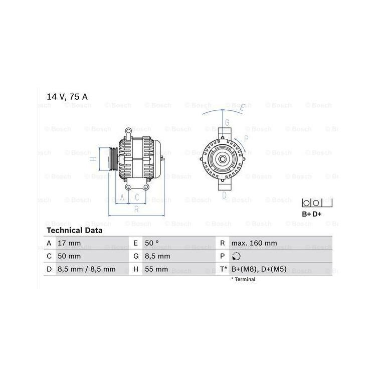 Bosch Lichtmaschine 0986049081 online günstig Autoteile kaufen